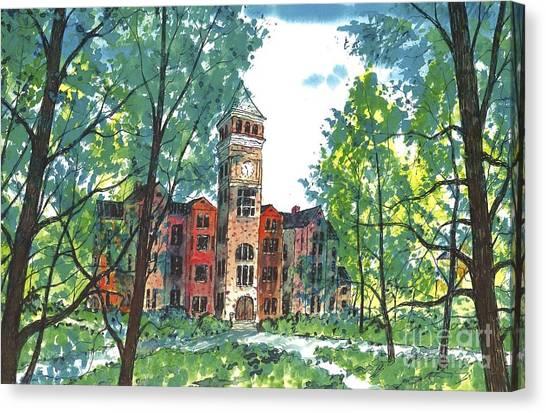 Tillman Hall Two Clemson Canvas Print