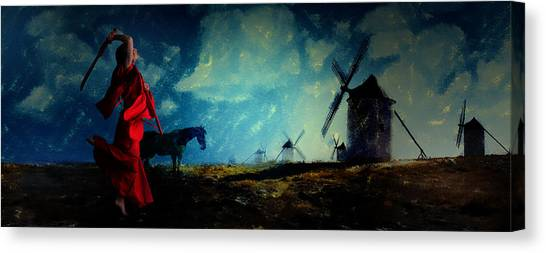 Tilting At Windmills Canvas Print
