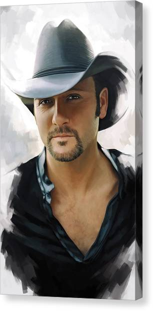 Tim Mcgraw Artwork Canvas Print