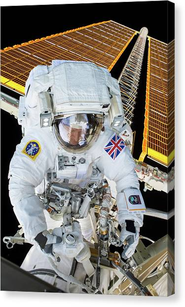 Emu Canvas Print - Tim Peake's Spacewalk by Nasa