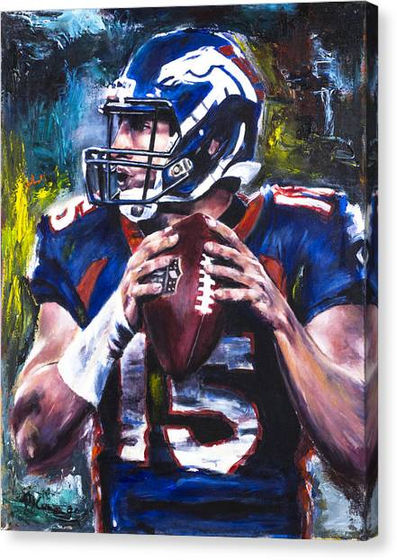 New York Jets Canvas Print - Tim Tebow by Mark Courage