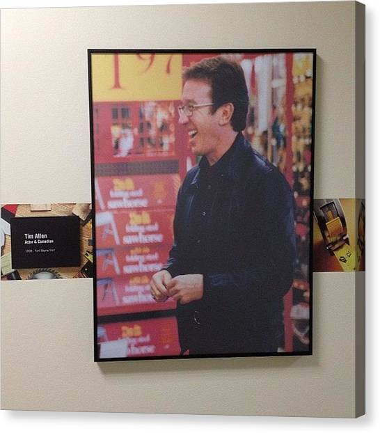 Celebs Canvas Print - #timallen #tooltime #oughoughough by Keenan Zimmerman