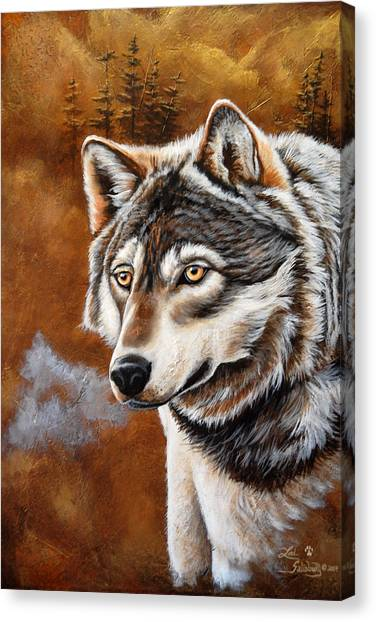 Canvas Print - Timber Wolf by Lori Salisbury