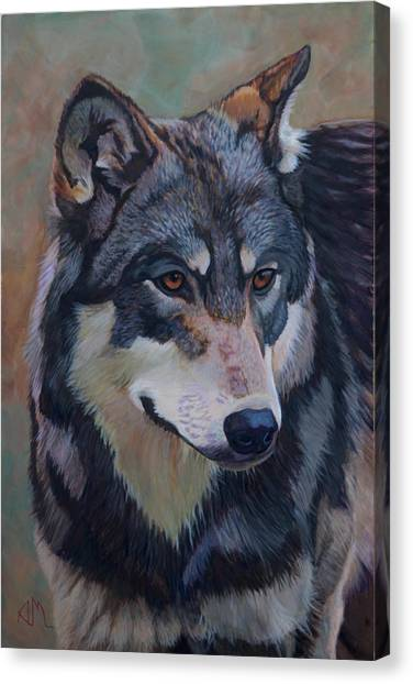 Canvas Print - Timber Wolf _motomo by Antonio Marchese