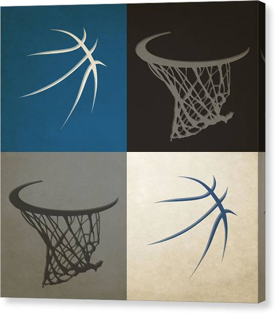 Minnesota Timberwolves Canvas Print - Timberwolves Ball And Hoop by Joe Hamilton