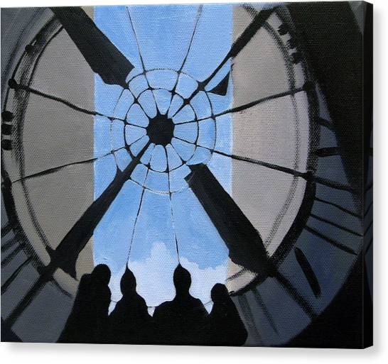 Time And Space Canvas Print by Ingela Christina Rahm