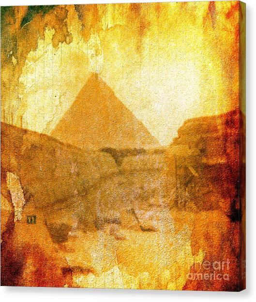 Time Fears The Pyramids Canvas Print
