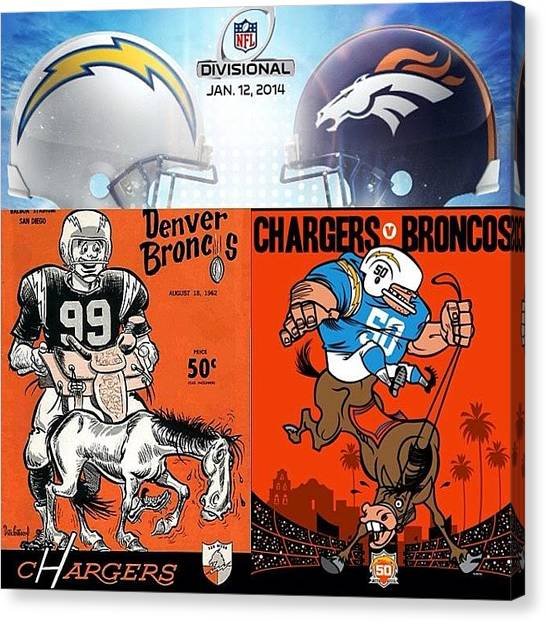 Donkeys Canvas Print - Time For My @chargers To Saddle Up by Slightly Stoopid