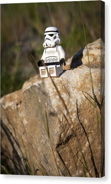 Stormtrooper Canvas Print - Time For Reflection by Samuel Whitton
