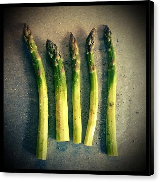 Asparagus Canvas Print - Time For Some Fresh Oven Roasted by Stina Niinimaki