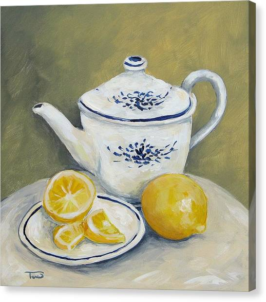 Tea Canvas Print - Time For Tea by Torrie Smiley