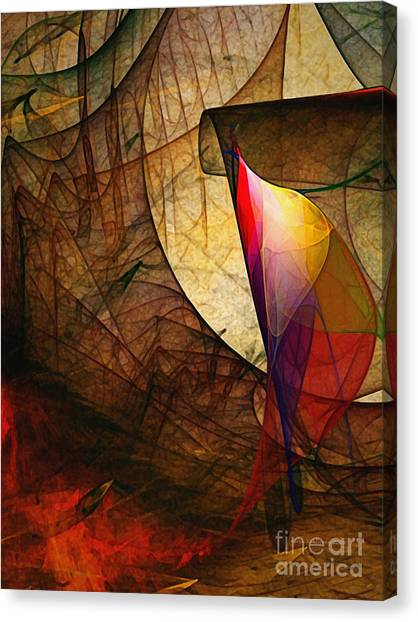 Lyrical Abstraction Canvas Print - Time Fuse-abstract Art  by Karin Kuhlmann
