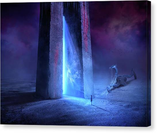 Portal Canvas Print - Time Gate by Sulaiman Almawash