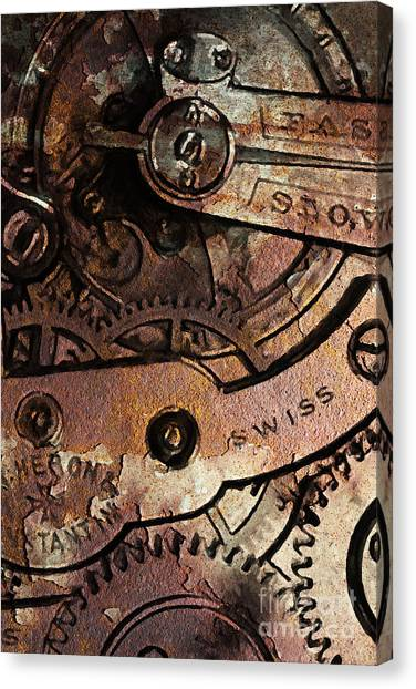 Time In Abstract 20130605rust Canvas Print by Wingsdomain Art and Photography
