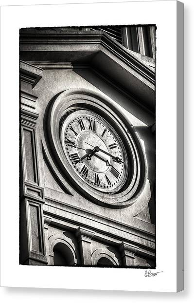 Time In Black And White Canvas Print