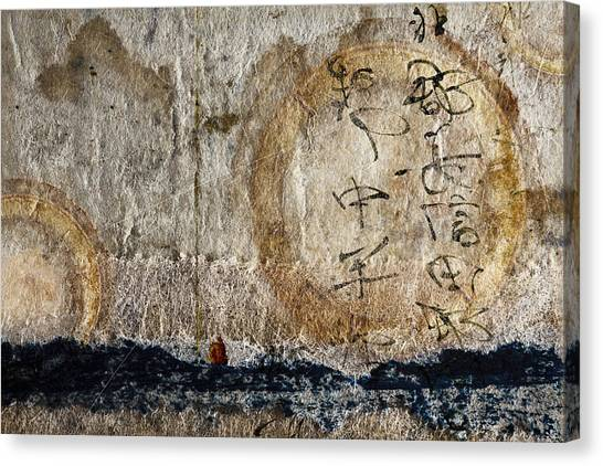 Torn Paper Collage Canvas Print - Time Overseas by Carol Leigh