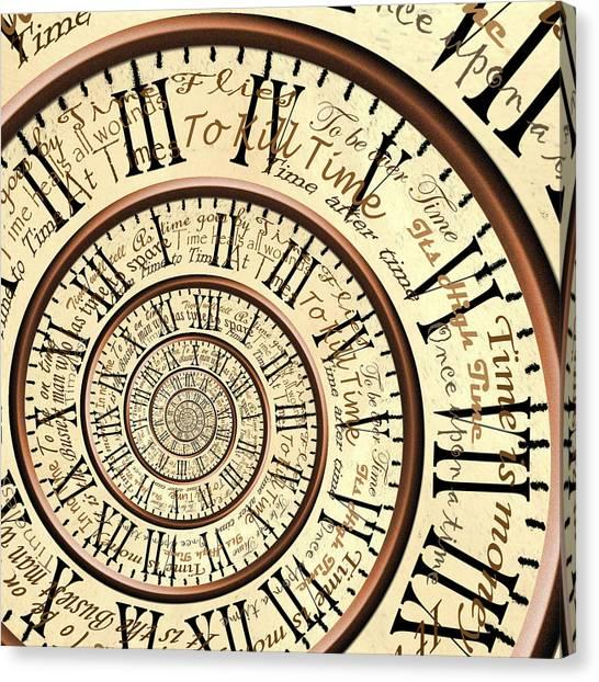 Time Canvas Print by Robbert van der Steeg
