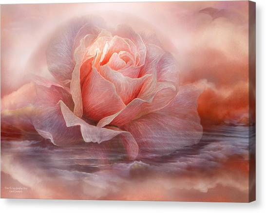 Etherial Canvas Print - Time To Say Goodbye Rose by Carol Cavalaris