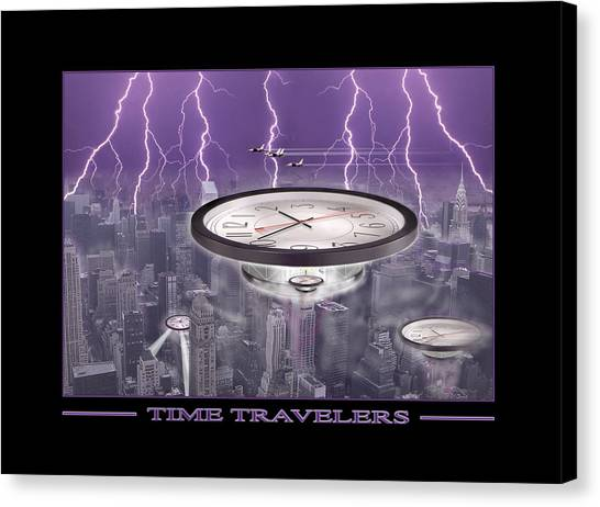 Ufos Canvas Print - Time Travelers by Mike McGlothlen