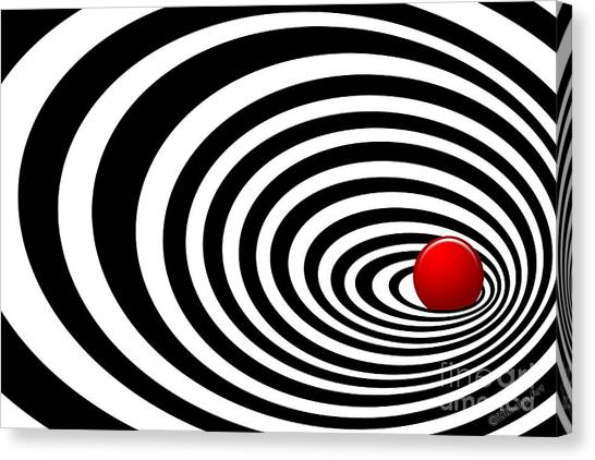 Time Tunnel Op Art Canvas Print