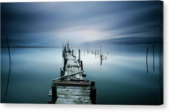 Pier Canvas Print - Timeless by Paulo Dias