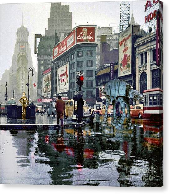 Times Square 1943 Reloaded Canvas Print