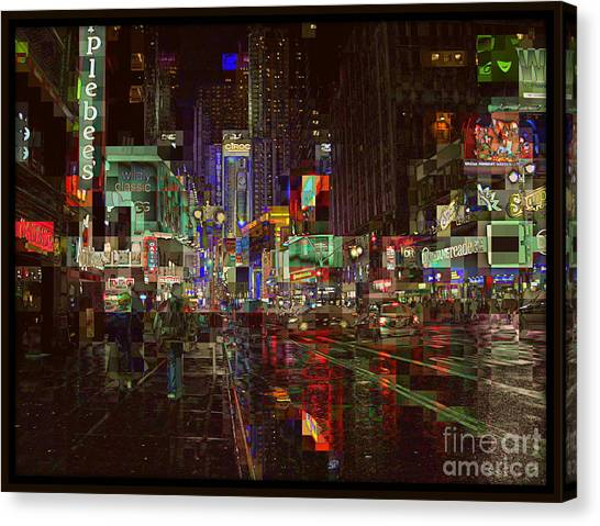 Times Square At Night - After The Rain Canvas Print