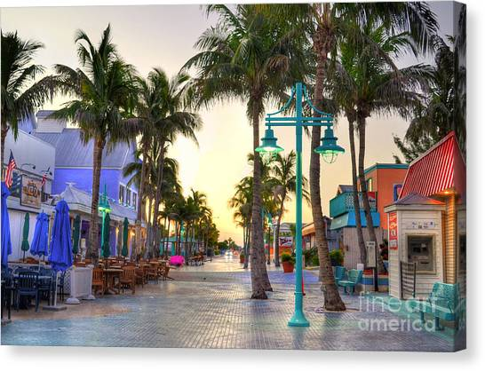 Times Square Fort Myers Beach Canvas Print