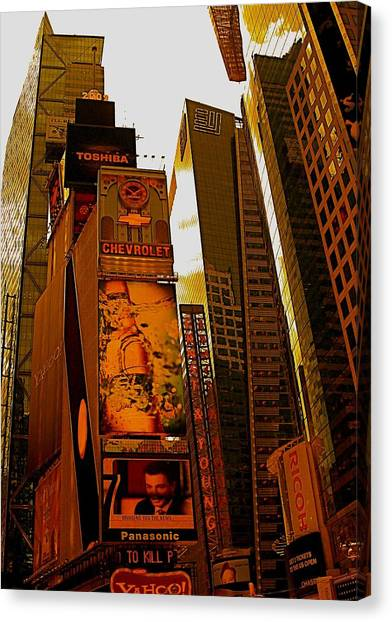 Times Square In Manhattan Canvas Print