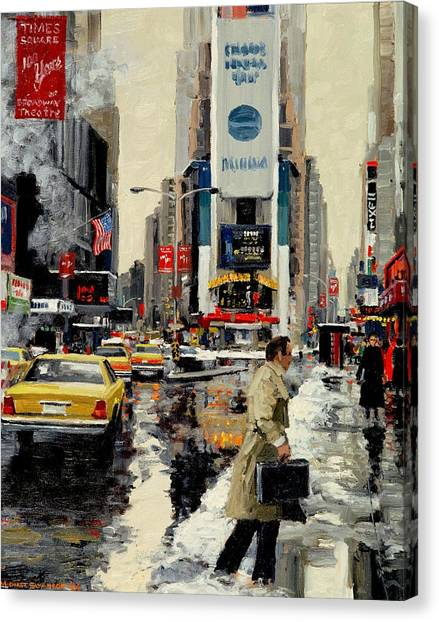 Times Square '95 Canvas Print by Michael Swanson