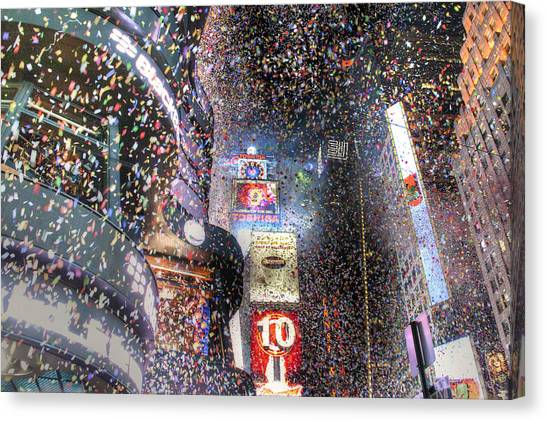 Times Square - New Years  Canvas Print by David Yack