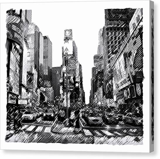Times Square   New York City Canvas Print