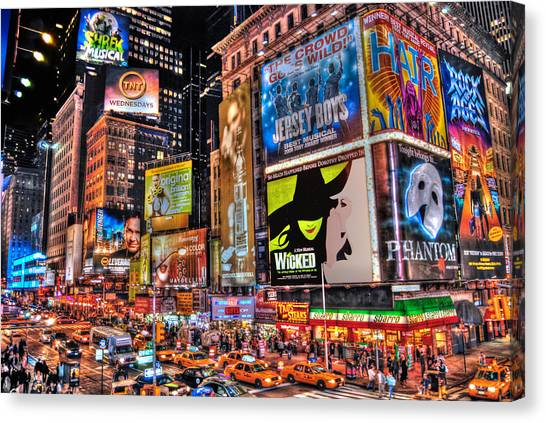 Broadway Canvas Print - Times Square by Randy Aveille