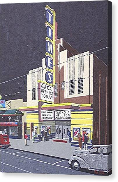 Times Theatre Canvas Print by Paul Guyer