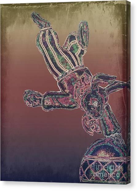 Tin Bunny Canvas Print