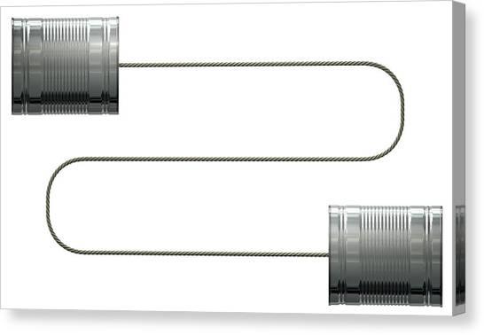 Transmission Canvas Print - Tin Telephones by Allan Swart