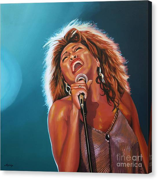 Rhythm And Blues Canvas Print - Tina Turner 3 by Paul Meijering