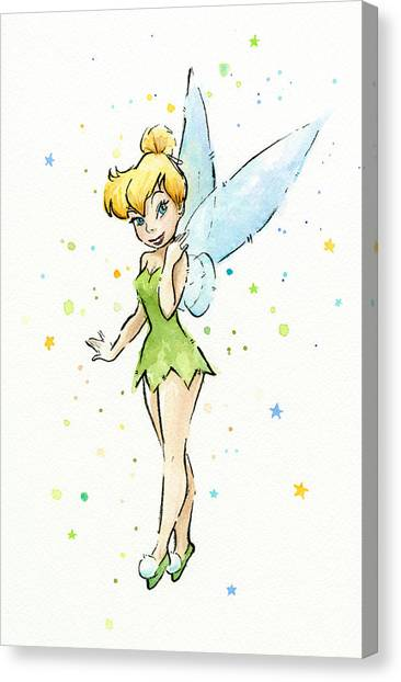 Fairies Canvas Print - Tinker Bell by Olga Shvartsur