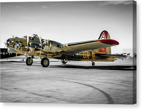 Tinted B17 Canvas Print