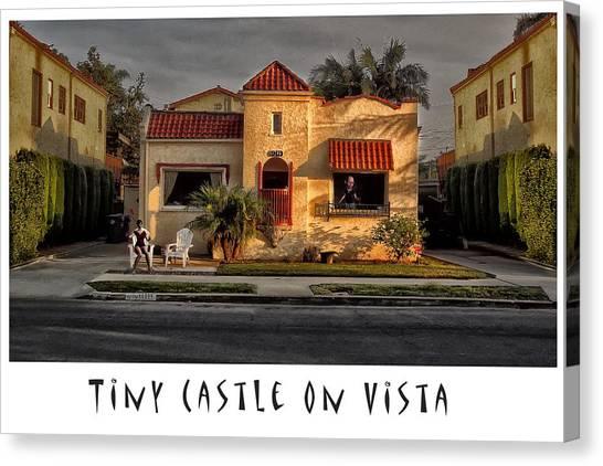 Tiny Castle On Vista Canvas Print
