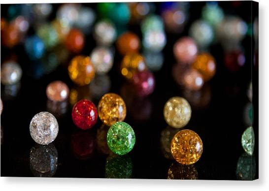 Tiny Crystal Balls Canvas Print