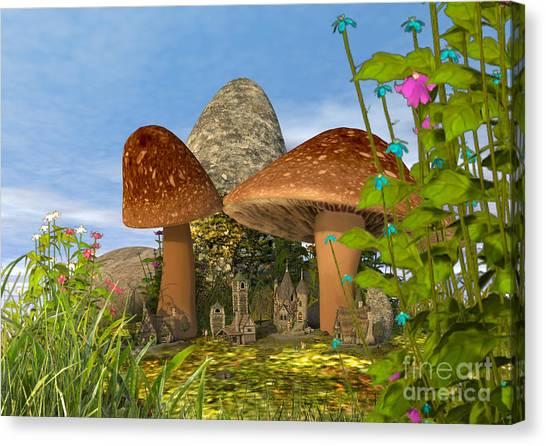 Tiny Fairy Village Canvas Print