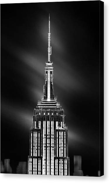 Empire State Building Canvas Print - Tip Of The World by Az Jackson
