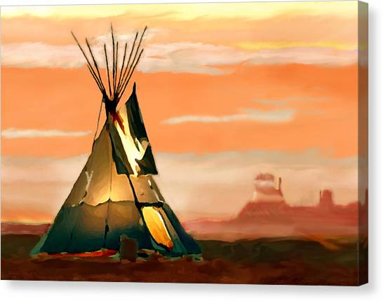 Tipi Or Tepee Monument Valley Canvas Print