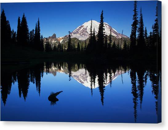 Beauty Mark Canvas Print - Tipsoo Sunrise by Mark Kiver