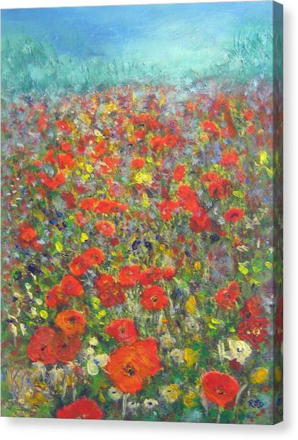 Tiptoe Through A Poppy Field Canvas Print