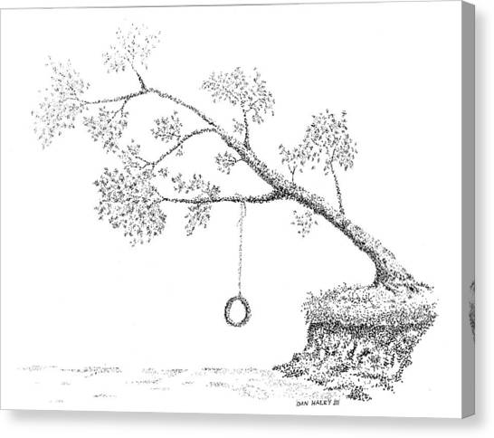 Tire Swing Canvas Print by Dan Haley