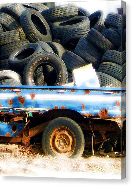 Tires Canvas Print