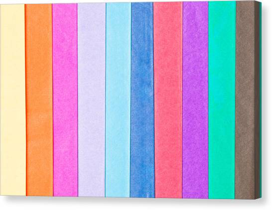 Selection Canvas Print - Tissue Paper by Tom Gowanlock