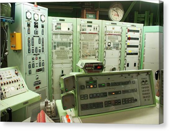 Cold War Canvas Print - Titan Missile Firing Room by Mark Williamson/science Photo Library